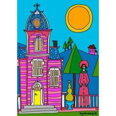 Pink house. Naive art Pink Houses, Naive Art, My Arts, Illustrations, Design, Art, Illustration, Design Comics, Illustrators