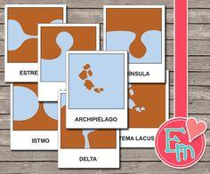 Formas de la tierra - español - El paisaje de Educativosmeninheira en Etsy