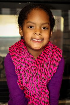 Pink and Gray Tassel Arm Knit Scarf by NatiyasJewelryBox on Etsy Arm Knitting, Pink Grey, Tassels, Arms, Crochet, Etsy, Fashion, Crochet Hooks, Moda