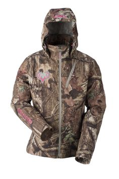 GWG Midweight Jacket - Mossy Oak Break Up Infinity - Wind resistant soft-shell with DWR treatment - Soft, micro tricot lining with embossed logo - Removable hood with 3-point adjustment - License loop