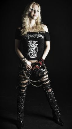 Angela Gossow..she is freakin smokin hot and an awesome singer