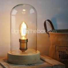 Table Lamps , Rustic/Lodge Wood/Bamboo - GBP £ 68.61