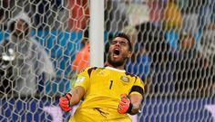 Romero... 9 julio de 2014 ... Mundial Brasil 2014... Semifinal Argentina vs Holanda. Estadio Arena Corinthians. San Pablo.
