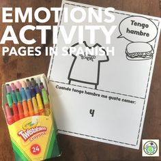 Included in our Emotions Bulletin Board Set is a series of activity pages geared at allowing students to personalize and reflect on their feelings-together they form a book kids can keep & take home! Mundo de Pepita, Resources for Teaching Languages to Children #elementaryspanish #sel #emotions #bulletinboard