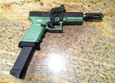 Glock 17-Custom-Zombie : Semi Auto Pistols at GunBroker.com