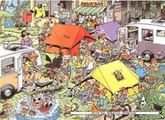 150 pcs jigsaw puzzle: Jan van Haasteren - Camping (Cartoon) (Jumbo 17219) #Jumbo