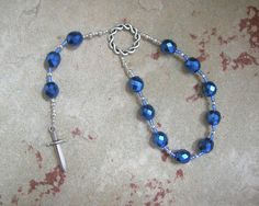 Tyr (Tiwaz) Pocket Prayer Beads: Norse God of Justice, Law and War by HearthfireHandworks on Etsy