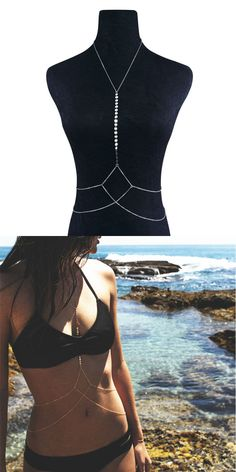 da95b72acf3 Body Chains 98526: New Women Body Full Metal Body Chain Silver Jewelry  Necklace Bikini Belly