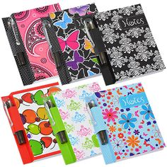 Fashion Pocket Notebook and Pen Sets (Set of Diy Notebook Cover, Pocket Notebook, Little Bit Of You, Bubble Wands, Cool Notebooks, Pen Sets, Craft Fairs, Spiral, Arts And Crafts