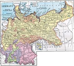 Inch Print - High quality print (other products available) - Comprehensive Geography by James Monteith - American Book Company - Image supplied by Fine Art Storehouse - Photo Print made in the USA Fine Art Prints, Framed Prints, Canvas Prints, History Of Germany, Historical Maps, Gifts In A Mug, Poster Size Prints, Photo Mugs, Photo Puzzle