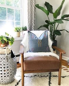 Shout out to @emilyeveryday for styling our Barlow Armchair to #mymodern perfection! And did we mention it's on #sale #NOW for $140? Shop while it lasts at the link in our profile.