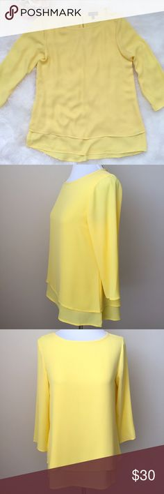 💛NWOT Gorgeous Flowy Tunic from The Limited New without tag - I unfortunately did not get a chance to wear it.  This Tunic top from The Limited is just gorgeous! Perfect over a pair of leggings or skinnies! Double layers on the bottom, 3/4 sleeves & a beautiful gold zipper on the back.  100% polyester. The Limited Tops Tunics