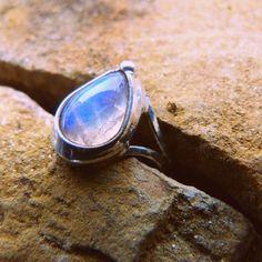 Moon stone ring.