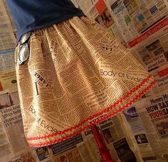 I have this skirt and I love it so much.  Indie Clothes, Womens Indie skirt, Newspaper Print Skirt, Newspaper Geek Skirt, Fun Skirts For Grown Ups. £30.00, via Etsy.