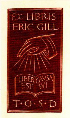Exlibris Eric Gill