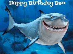 Nemo Shark Bruce Edible Cake Image Decoration Topper Custom Birthday Party Favor | eBay