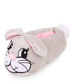 New Look Grey Rabbit Slippers #slipons #covetme