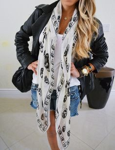 skulls~ there are scarfs like this available on ebay.  i actually ordered one recently!