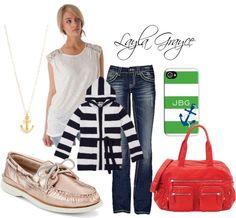 Preppy Does It! Fashion inspiration from @LaylaGrayce #laylagrayce #fashion #anchor #nautical