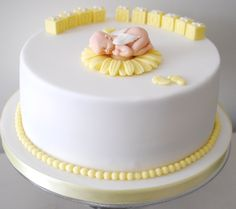such a sweet and simple baby shower cake