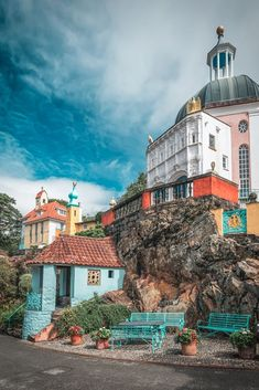 Portmeirion, Wales, UK Great Britain, Wales Uk, Autumn, Explore, Mansions, House Styles, Home, Fall Season, Manor Houses