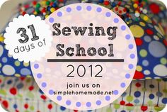 Day 1: Welcome to 31 Days of Sewing School.