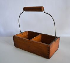 Vintage Rustic Little Wooden Divided Tote by TheVintageRoad2Retro, $14.50
