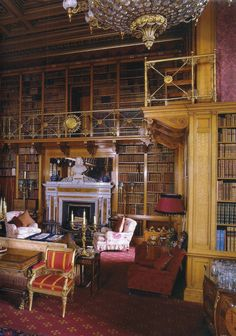 The Library at Alnwick Castle.  Photo by James McDonald for The World of Interiors magazine