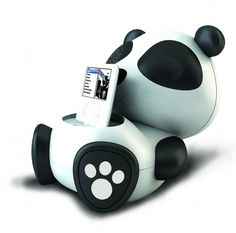 ipod docks   panda ipod dock 650x642 Electric Friends Animal iPod Speaker Docks