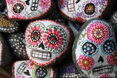 Dia de Los Muertos stones