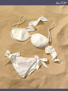 Carine Gilson bikini top, $435, and bottoms, $290 For information: net-a-porter.com