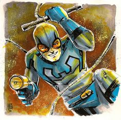 Awesome Art Picks: Blue Beetle, Nick Fury, Doctor Strange, and Comic Book Artists, Comic Book Heroes, Comic Books Art, Comic Art, Charlton Comics, Blue Beetle, Dc Comics Characters, Dc Heroes, Dark Horse