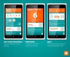 6 WEEK TRAINING / App for Windows Phone by Rafał Czaniecki, #Mobile #UX