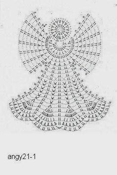 Free Crochet Diagram Pattern - not English Crochet Angel Pattern, Crochet Angels, Crochet Motifs, Crochet Diagram, Crochet Chart, Thread Crochet, Crochet Doilies, Crochet Stitches, Free Crochet