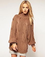 Chunky High Neck Sweater