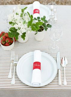 Strawberry inspired table: http://www.stylemepretty.com/vault/search/images/tablecloth