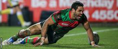 South Sydney run in seven tries to inflict a record World Club Challenge defeat on Super League champions St Helens. Rugby League, Role Models, Champion, Sports, Actors, Wallpaper, Top, Templates, Hs Sports