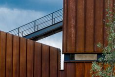 Image 8 of 31 from gallery of Wren Residence / Chris Pardo Design: Elemental Architecture. Photograph by Steven Begleiter Open Architecture, Architecture Details, Installation Architecture, Residential Architecture, Roof Replacement Cost, Exterior Cladding, Roofing Systems, Brick And Mortar, Corten Steel
