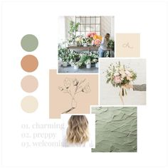 mood board from the florist brand I've been dreaming up still gives me alllll the heart eyes! Colour Pallete, Colour Schemes, Color Palettes, Mood And Tone, Web Design, Graphic Design, Layout Inspiration, Moodboard Inspiration, Branding Design