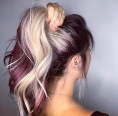 Love the purple and platinum blonde. I'm just worried the purple would fade into the blonde...