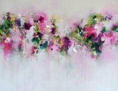 Roze Abstract schilderij afdrukken Giclee Print van door Tamarrisart