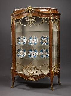 Louis XV Style Kingwood and Gilt-Bronze Bombe Vitrine By Francois Linke And Leon Message - French   c.1880