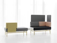 The POP sofa, one of the years great news, is designed by Patrik Bengtsson and Pierre Sindre. Presented here in a new clothing that accentuates the different functional units. Gärsnäs.