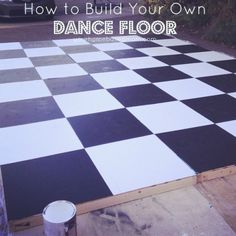 This step by step tutorial will show you how to build a dance floor using 2 x 2's and sheets of plywood. So easy and so much less expensive than renting one.