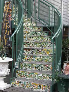 Mosaic steps. Love Your Shade