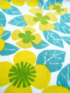 #vintage 1960s fabric, Banbury by Colleen Farr for Heals