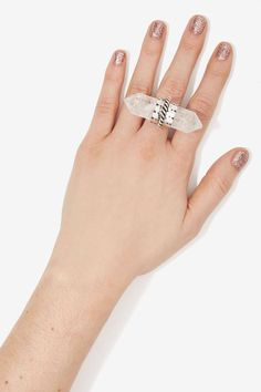 Rock Solid Crystal RIng