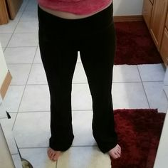Bootcut black pants. Bootcut black pants. I used these to workout but they can also be comfy lounge pants. Pants