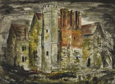 Notley Abbey, in Buckinhamshire by John Piper was once the home of Laurence Olivier and Vivien Leigh Sold in a collection at Sothebys in July John Piper Artist, Eaton Square, Rhett Butler, Margaret Mitchell, Vivien Leigh, Cecil Beaton, Stonehenge, Modern Country, Durham