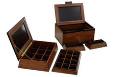 Partner Boxes (Solid Lacewood & Wenge)